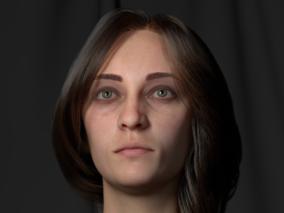 Haora写实女人cg模型   设计师:萨拉(Salah Elshehry)