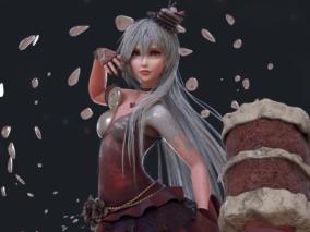 红色天鹅绒蛋糕拟人角色设计   设计师:CheyenneBurdue