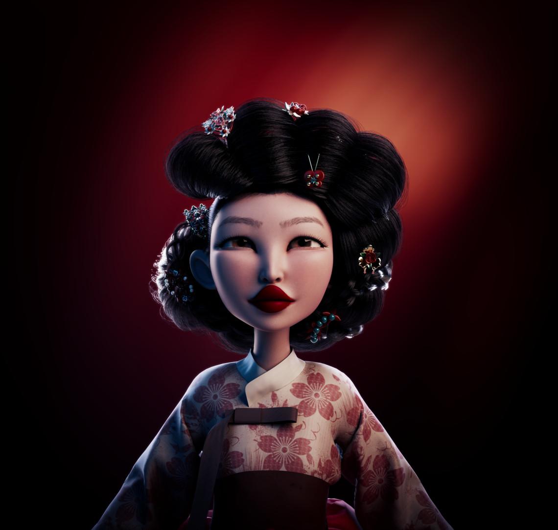 Gisaeng  韩国艺伎角色设计   设计师:Méline Pischedda