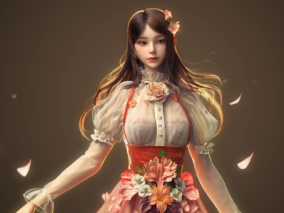 樱花盛开   女性角色设计    设计师: Yangzhengnan_Cheng