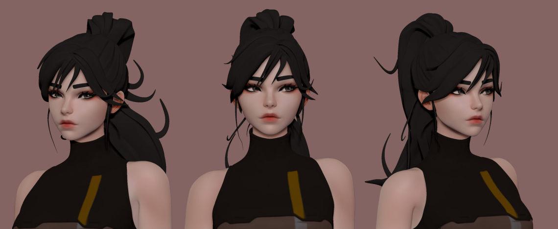 美女(韩国3D模型师 Hyuk Lee Bspined)