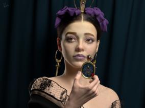 写实女性角色-加布里埃拉 | 国外数字雕刻家 vahidahmadi3d