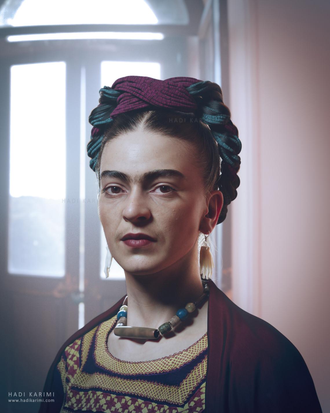 写实女性角色-弗里达·卡罗   国外CG自由艺术家 Hadi Karimi