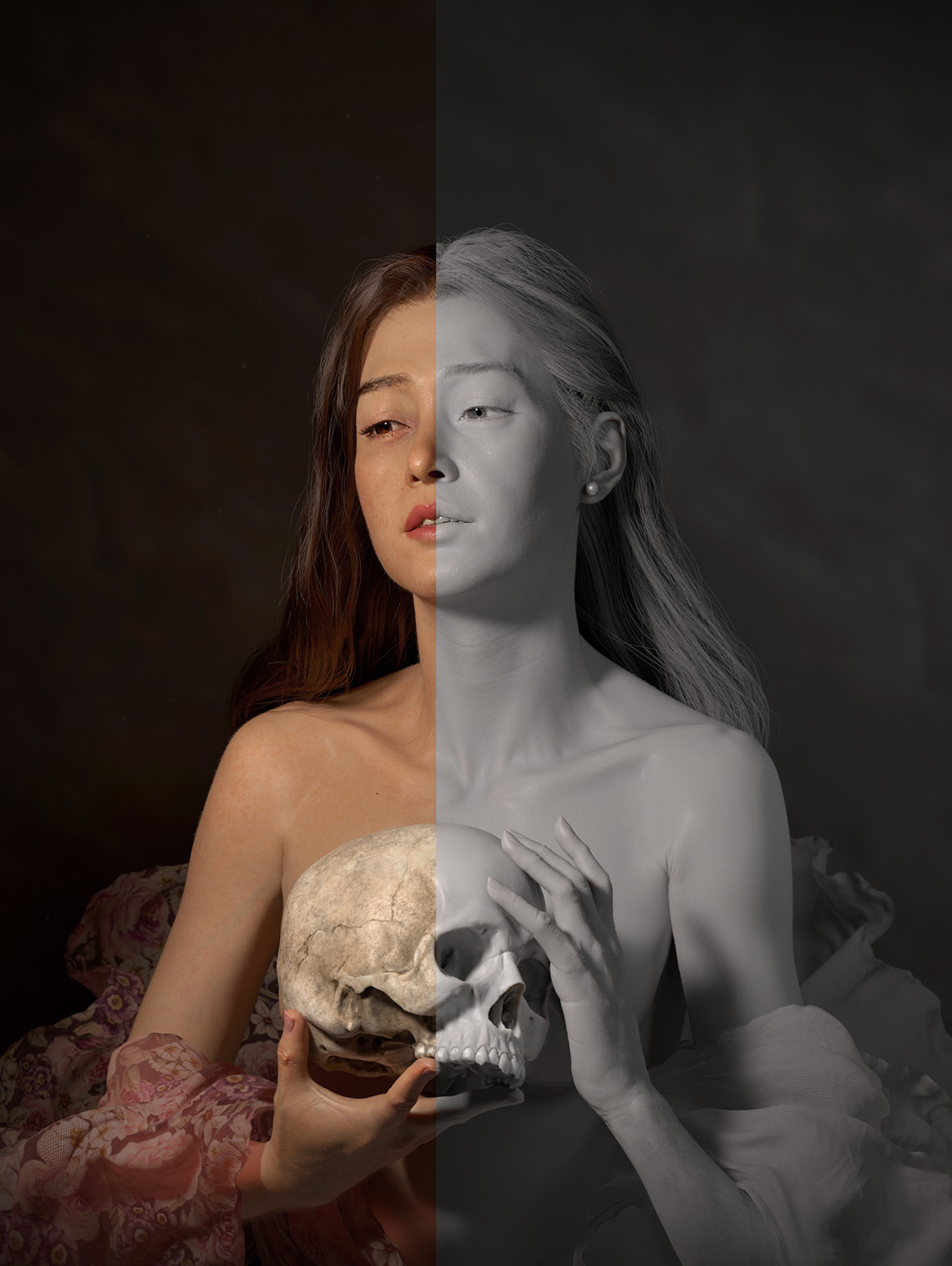 写实风格女性角色作品《接近星星》    设计师:Patiphan Sottiwilaiphong