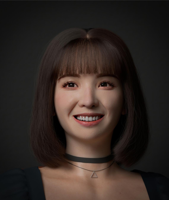 微笑女孩   写实角色    设计师:Quoc Anh Pham