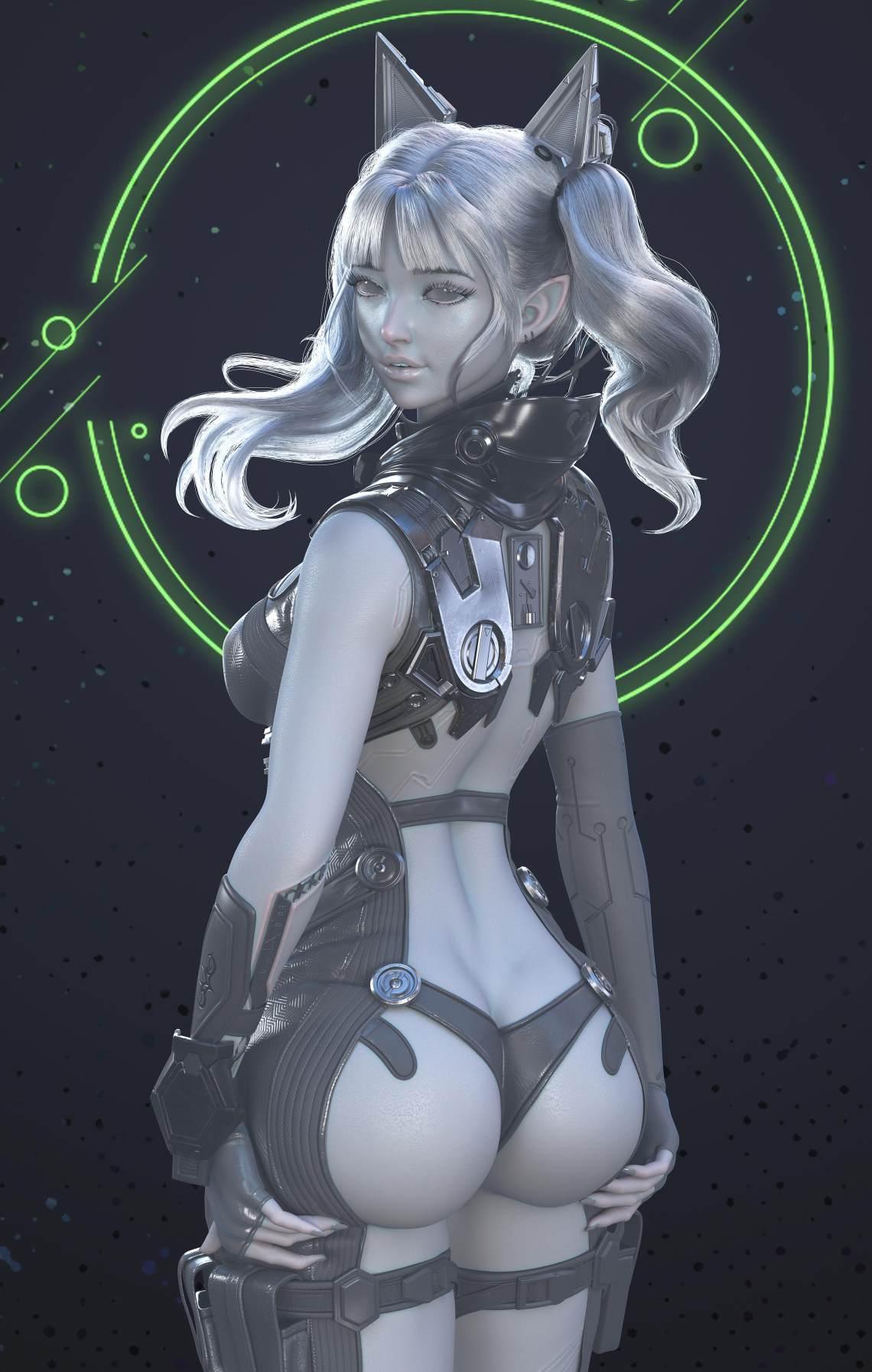 作品:《Cyberpunk Girl》作者:Borfuy
