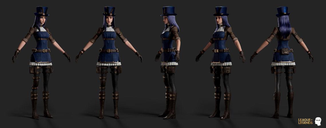 英雄联盟—凯瑟琳(美国3d设计师Daniel Kho)