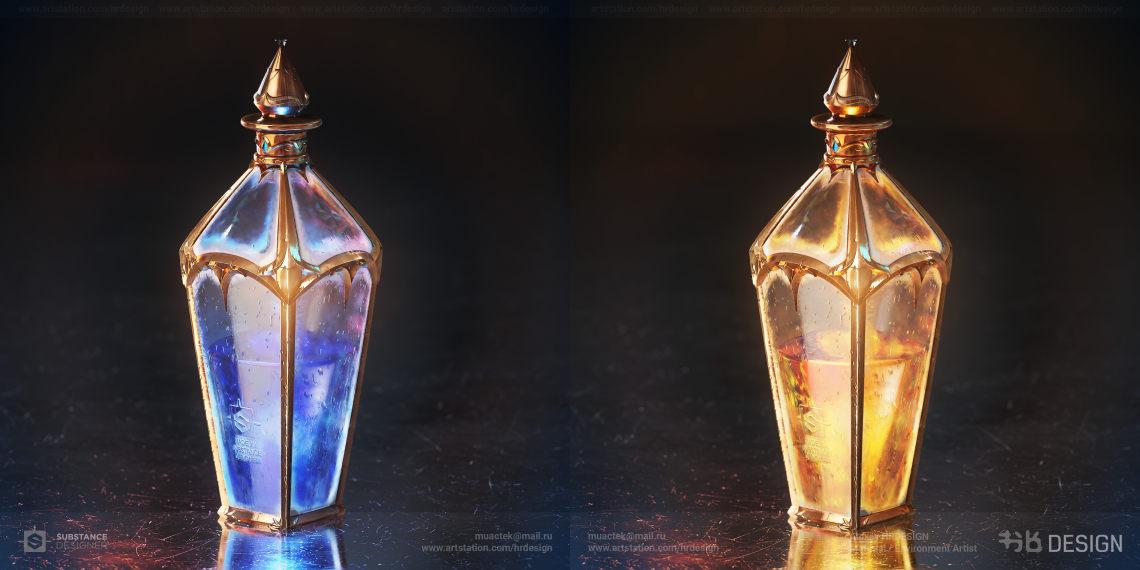 魔药瓶写实建模     设计师:Alexey HRDesign