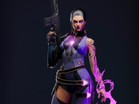 雷纳(Reyna)女枪手角色    设计师:chequeiq
