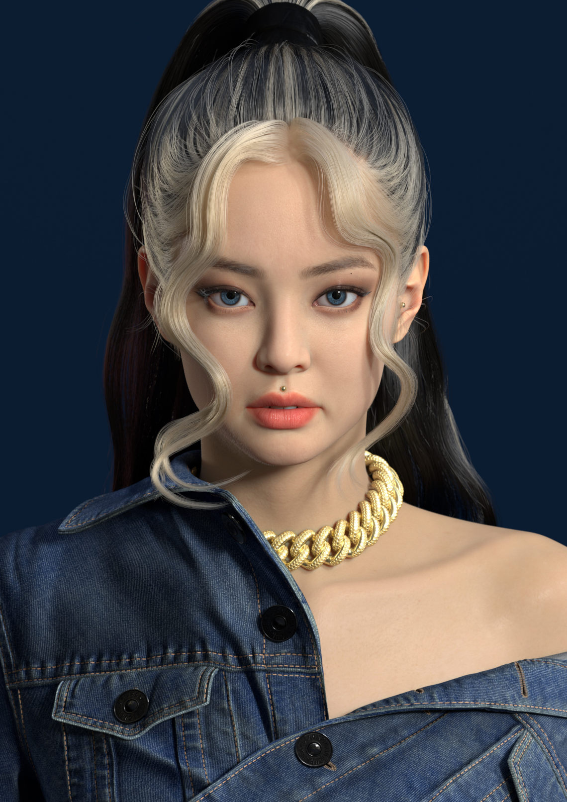 blackpink 珍妮(韩国3d角色设计师sim insu)