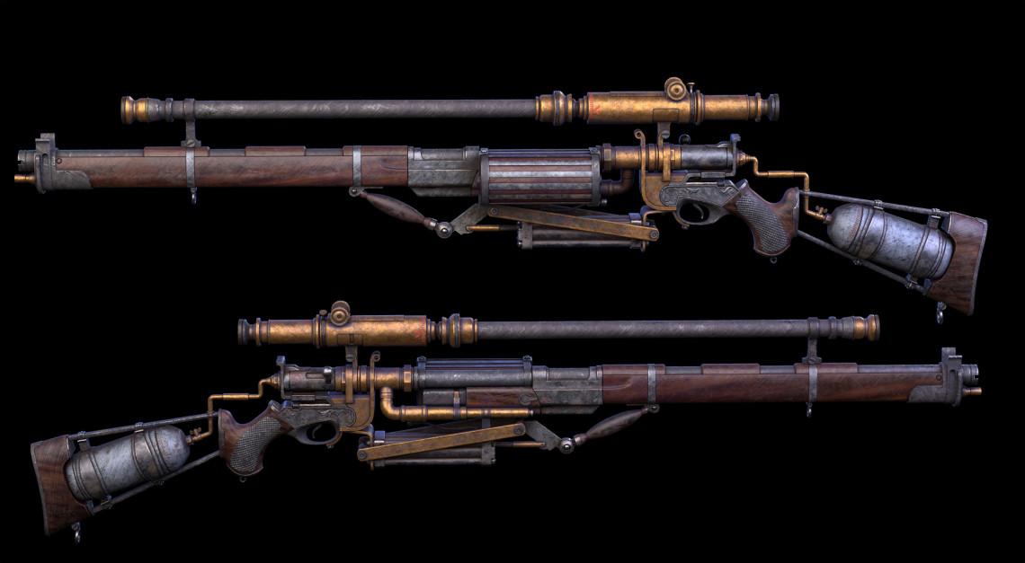 写实蒸汽朋克枪   设计师:ZSD