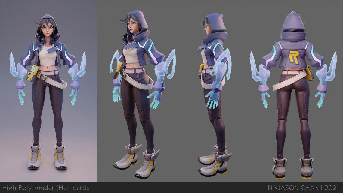 少女(南非华人3d角色设计师ninJason Chan)