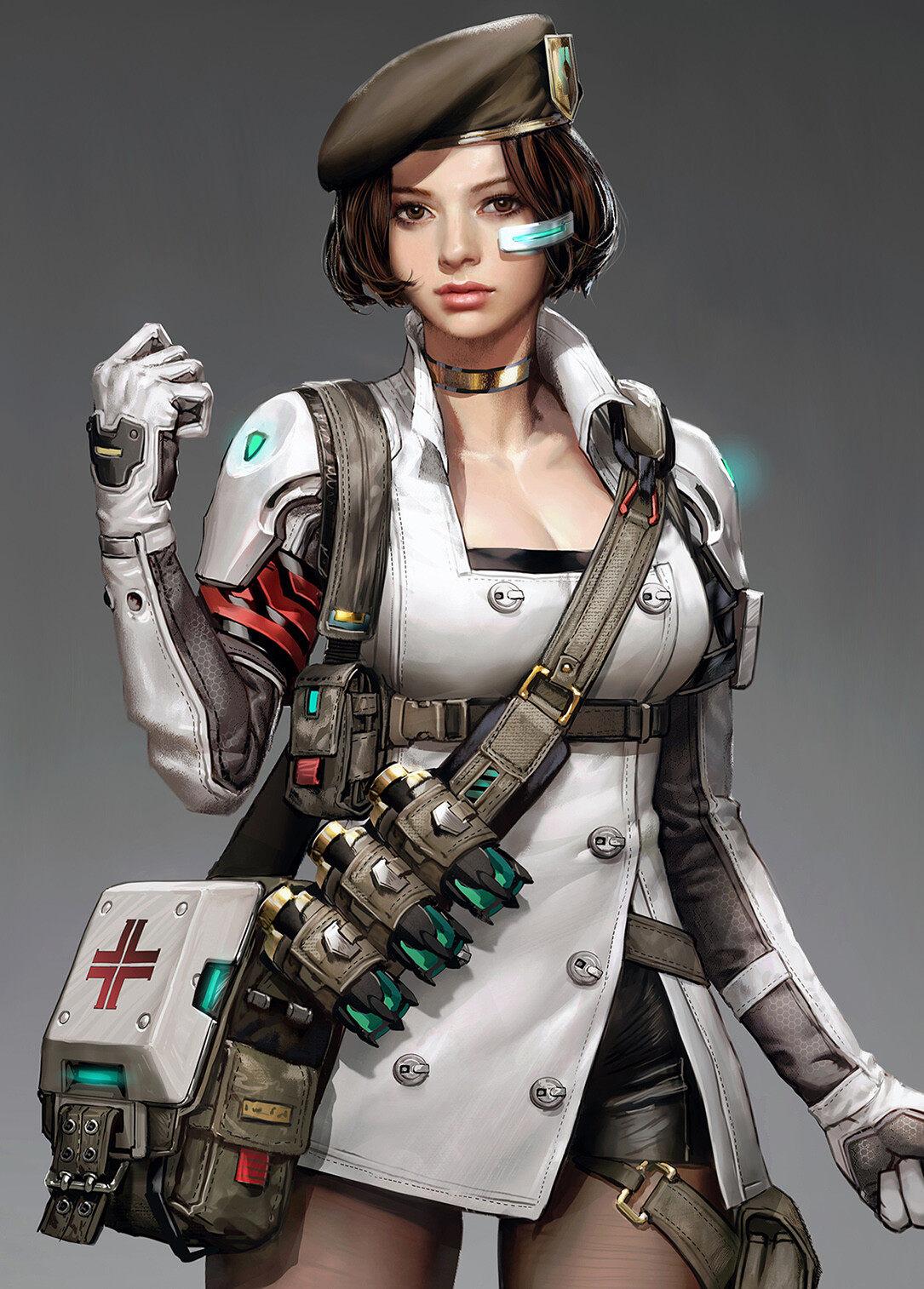医疗兵(韩国自由插画师seunghee lee)