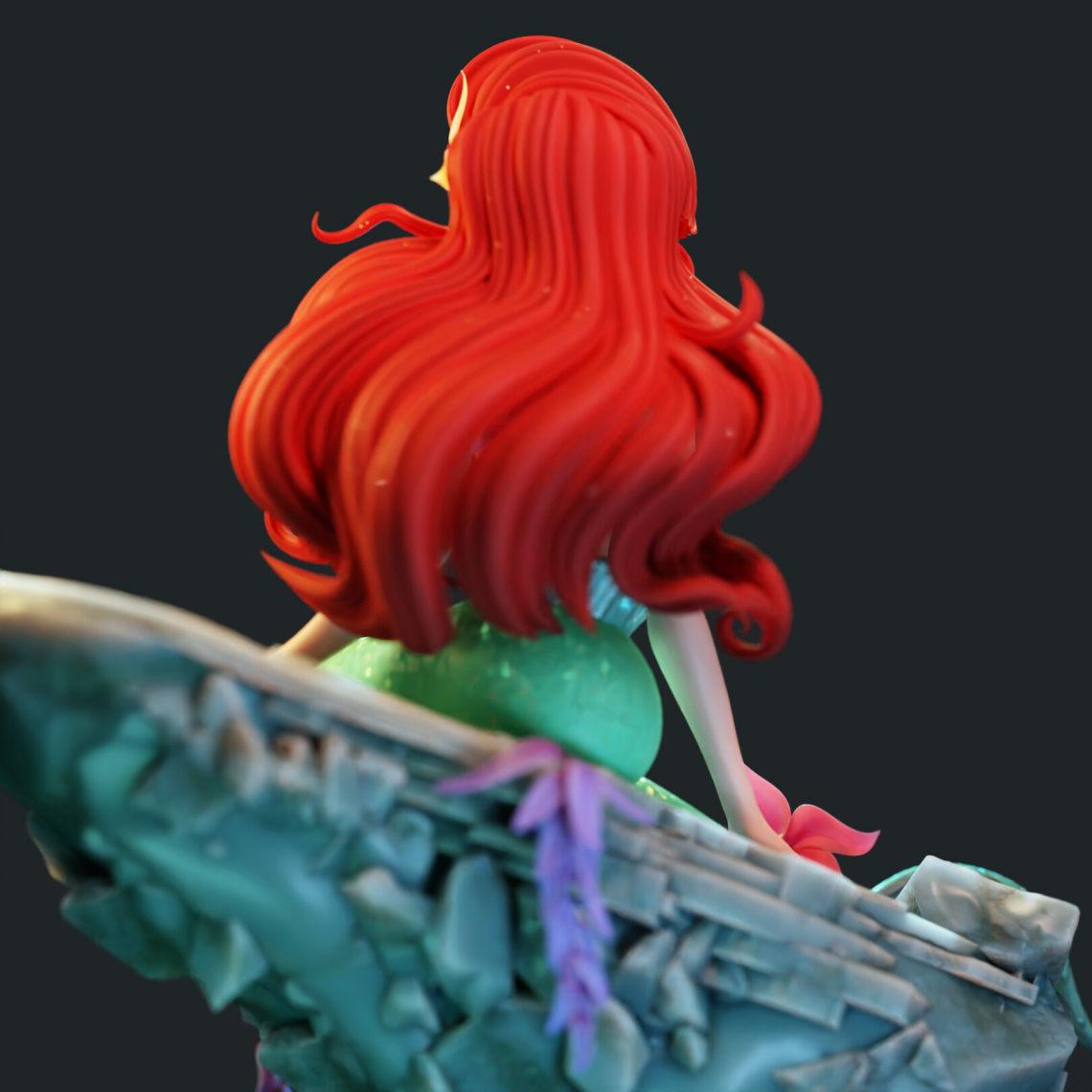 小美人鱼(西班牙3d设计师Pablo Dobarro)