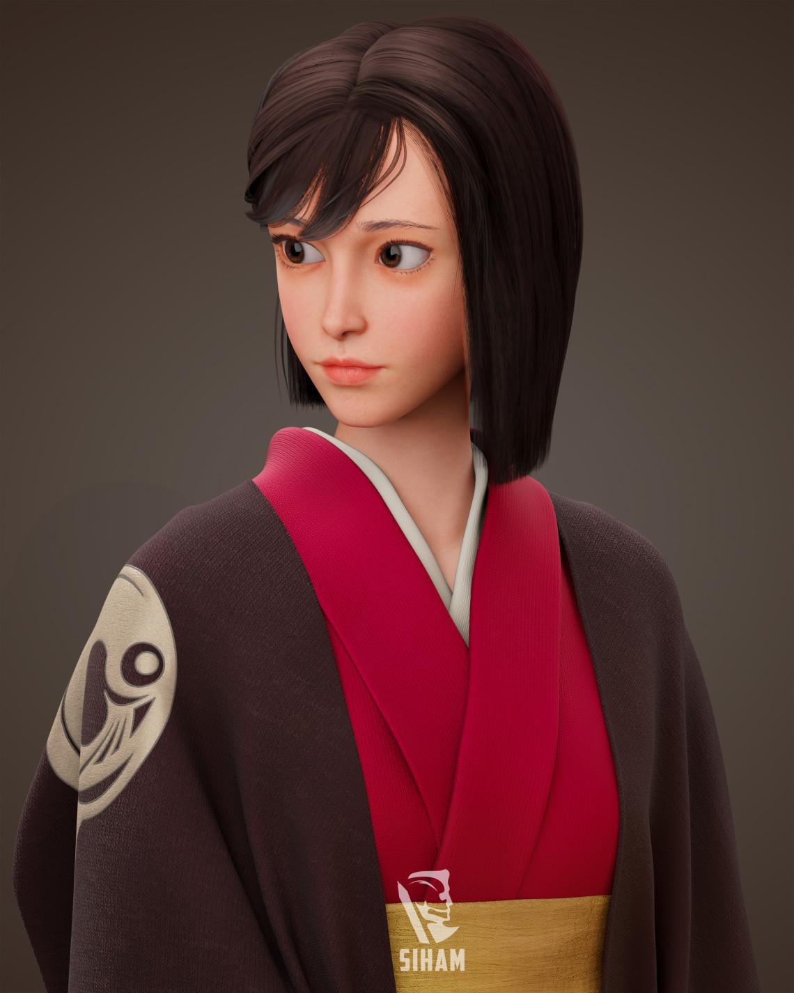 中国女孩角色设计   设计师:Sihammohsin