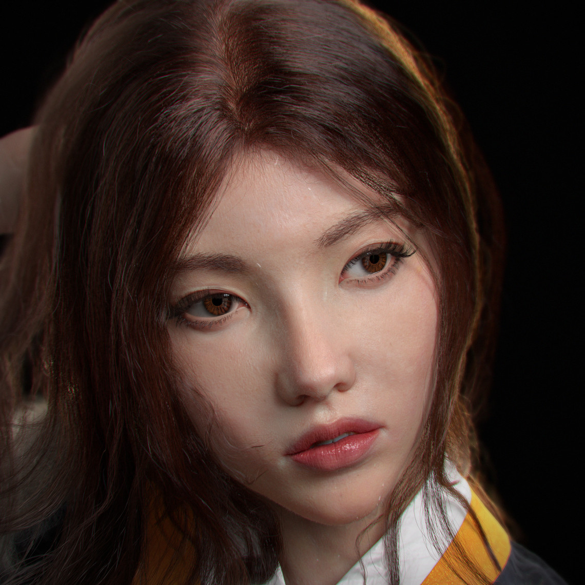 Korean soldier韩国武士女性角色设计作品    设计师:vahidahmadi3d