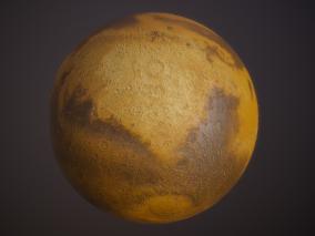 写实火星cg模型